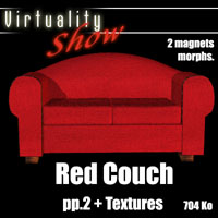 Free Red Couch by 3D Strike